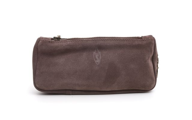 SUEDE PIPE AND TOBACCO BAG GRAPHITE