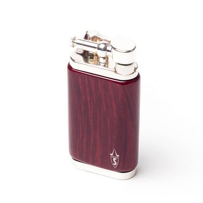 OLD BOY PIPE LIGHTER ROSEWOOD RED