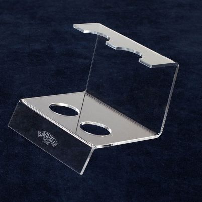 ACRYLIC 2 PIPE STANDS TRANSPARENT