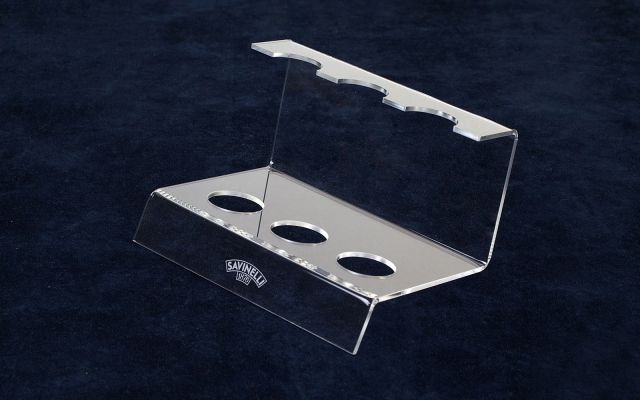 ACRYLIC 3 PIPE STANDS TRANSPARENT