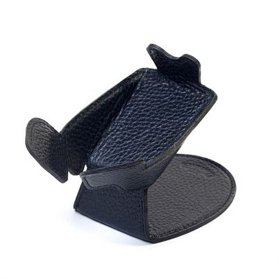LEATHER PIPE STAND BLACK
