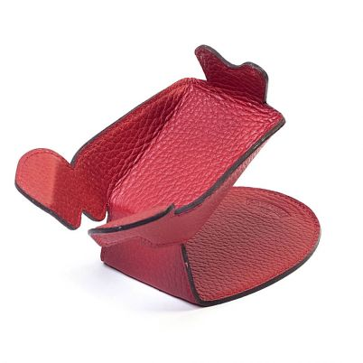 LEATHER PIPE STAND RED