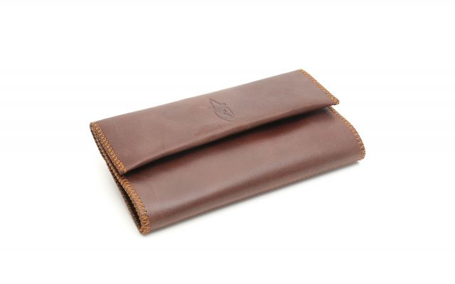 HAND ROLLING TOBACCO POUCH COGNAC