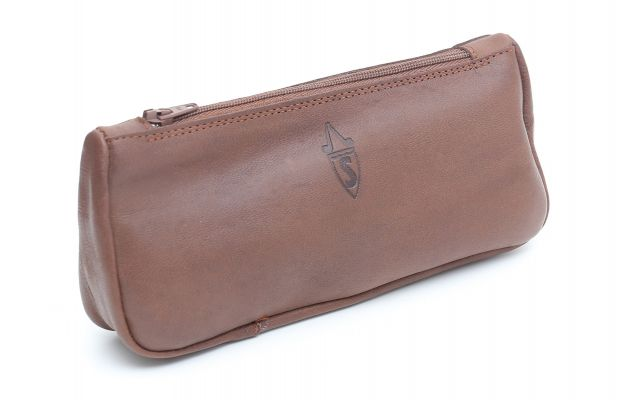 VINTAGE 1 PIPE AND TOBACCO POUCH COGNAC