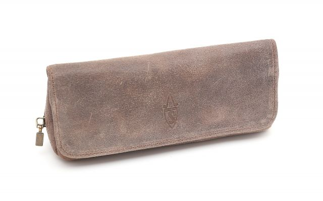SUEDE PIPE AND TOBACCO BAG - DOVE GRAY