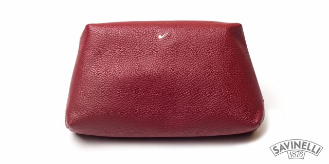 LEATHER TRAVEL TROUSSE RED