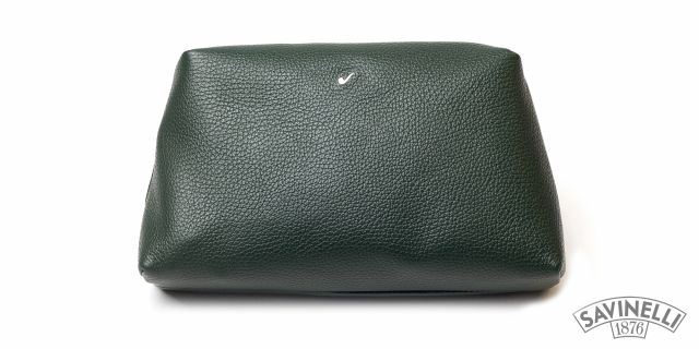 LEATHER TRAVEL TROUSSE GREEN