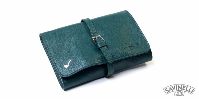 LEATHER PIPE TRAVEL BAG GREEN