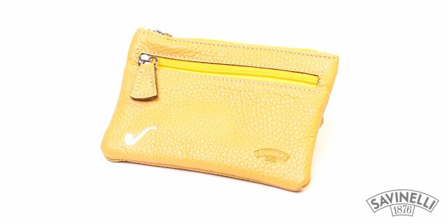 LEATHER ROLLING TOBACCO POUCH YELLOW