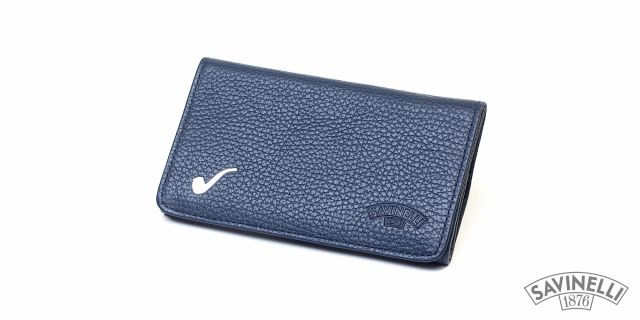 ROLL-UP HAND ROLLING TOBACCO POUCH BLUE