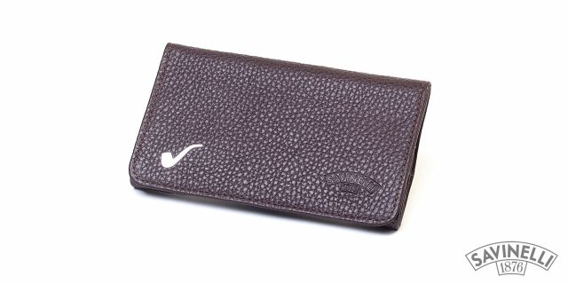 ROLL-UP HAND ROLLING TOBACCO POUCH BROWN