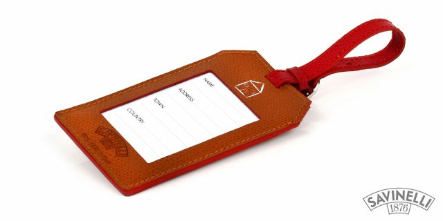 LUGGAGE TAG LIGHT BROWN