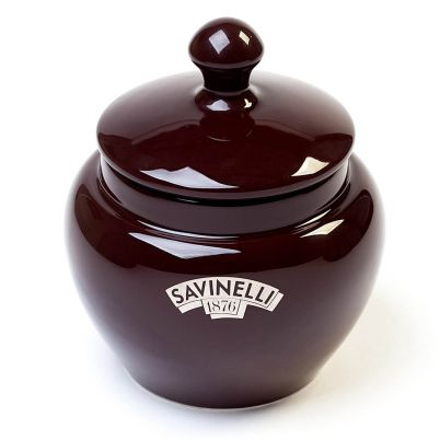 ROUNDED TOBACCO JAR BROWN