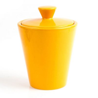 TOBACCO JAR HUMIDOR YELLOW