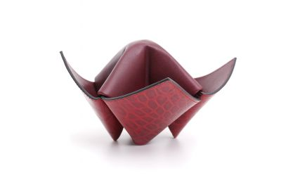 PIPES/ITEMS HOLDER ORIGAMI BURGUNDY