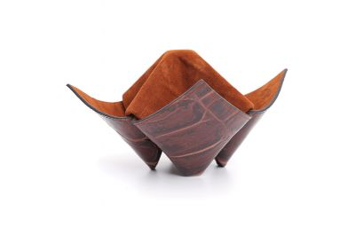PIPES/ITEMS HOLDER ORIGAMI BROWN AND BEIGE