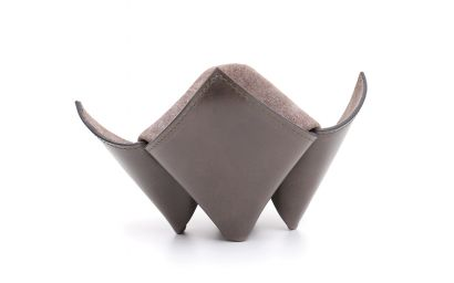 PIPES/ITEMS HOLDER ORIGAMI GREY