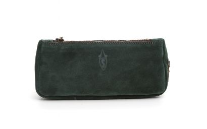 SUEDE PIPE AND TOBACCO BAG GREEN