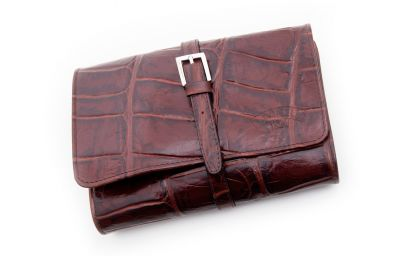 LEATHER PIPE TRAVEL BAG PELLE COCCO