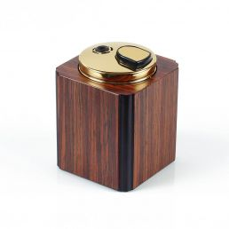 MAHOGANY TABLE LIGHTER
