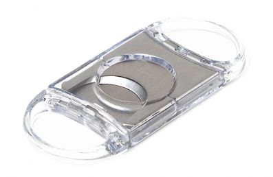DOUBLE BLADE CIGAR CUTTER TRANSPARENT