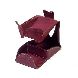 LEATHER PIPE STAND BORDEAUX