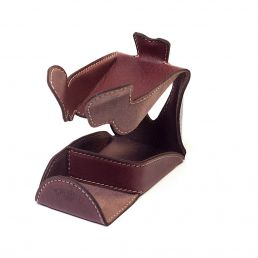 LEATHER PIPE STAND BROWN