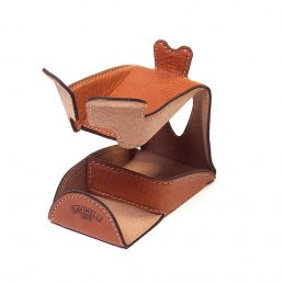 LEATHER PIPE STAND LIGHT BROWN