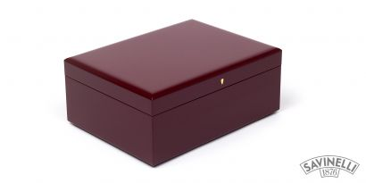 HUMIDOR BURGUNDY LAQUERED