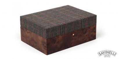 SMALL CIGAR HUMIDOR FABRIC COVERED