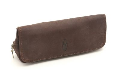 SUEDE PIPE AND TOBACCO BAG - BROWN