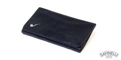 ELITE LEATHER ROLL-UP PIPE TOBACCO POUCH BLACK