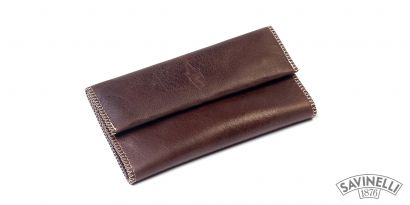 HAND ROLLING TOBACCO POUCH BROWN