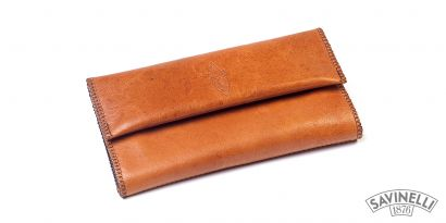 HAND ROLLING TOBACCO POUCH LIGHT BROWN
