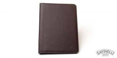 LEATHER NOTEPAD HOLDER BROWN