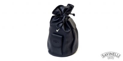 LEATHER 4 PIPE BAG BLACK