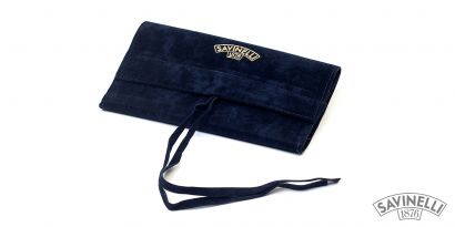 VELVET PIPE BAG BLUE