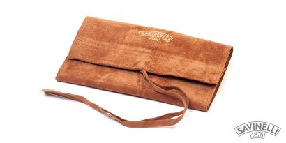 VELVET PIPE BAG LIGHT BROWN