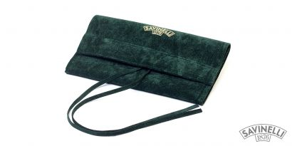 VELVET PIPE BAG GREEN