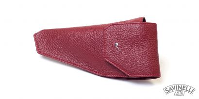 LEATHER PIPE HOLSTER RED