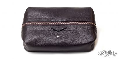 MAN TRAVEL TROUSSE BROWN