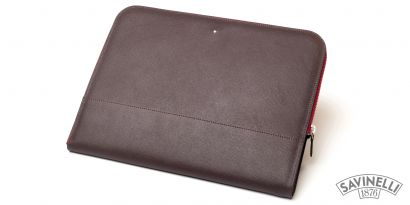 ZIPPED DOCUMENT FOLDER BROWN