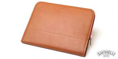 ZIPPED DOCUMENT FOLDER LIGHT BROWN