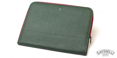 ZIPPED DOCUMENT FOLDER GREEN