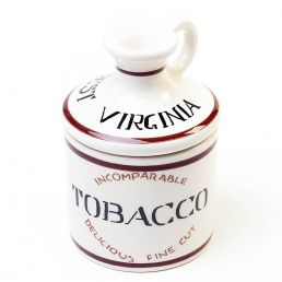 TOBACCO JAR FLASK SHAPED BROWN
