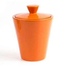 TOBACCO JAR HUMIDOR ORANGE