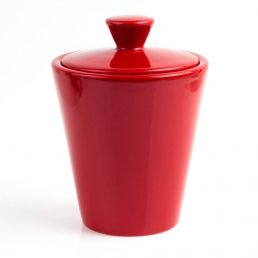 TOBACCO JAR HUMIDOR RED