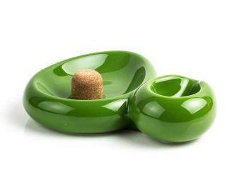 SIDECAR PIPE ASHTRAY LIGHT GREEN